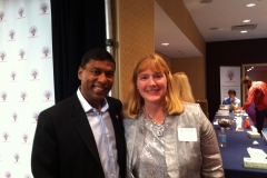 Denise with Naveen Jain